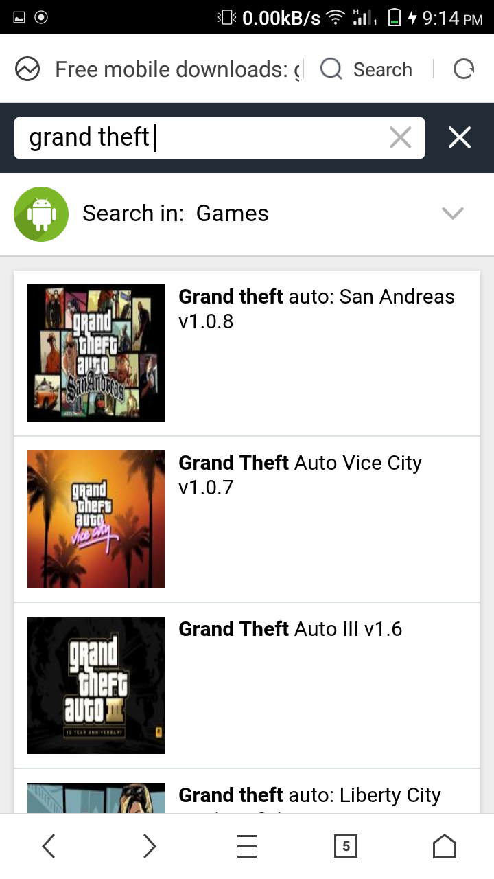 gta 5 android google play store